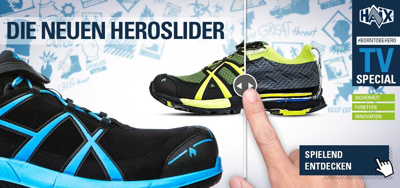 Schuhe spielend entdecken mit den Hero-Slider