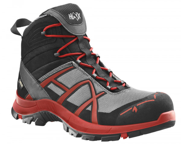 HAIX Black Eagle Safety 40 Mid stone/red